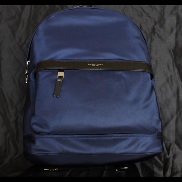 74efc7bfc979 Michael Kors Bags | Kent Backpack Indigo | Poshmark